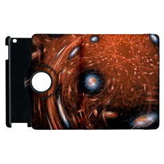 Fractal Peacock World Background Apple Ipad 3/4 Flip 360 Case by Simbadda
