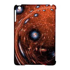 Fractal Peacock World Background Apple Ipad Mini Hardshell Case (compatible With Smart Cover) by Simbadda