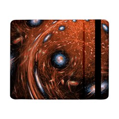 Fractal Peacock World Background Samsung Galaxy Tab Pro 8 4  Flip Case by Simbadda