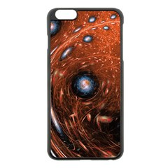 Fractal Peacock World Background Apple Iphone 6 Plus/6s Plus Black Enamel Case by Simbadda