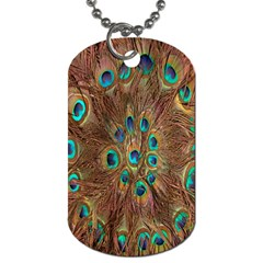 Peacock Pattern Background Dog Tag (one Side) by Simbadda