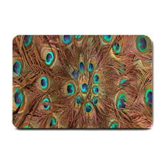 Peacock Pattern Background Small Doormat  by Simbadda