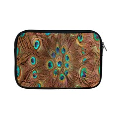 Peacock Pattern Background Apple Ipad Mini Zipper Cases by Simbadda
