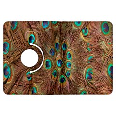 Peacock Pattern Background Kindle Fire Hdx Flip 360 Case by Simbadda