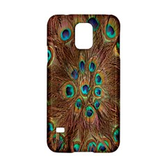Peacock Pattern Background Samsung Galaxy S5 Hardshell Case  by Simbadda