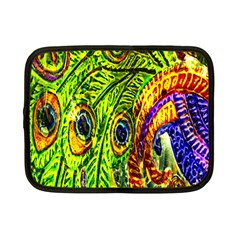 Glass Tile Peacock Feathers Netbook Case (small)  by Simbadda