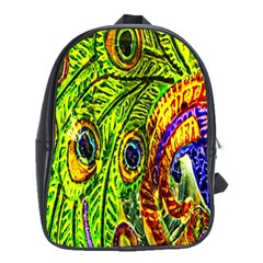 Glass Tile Peacock Feathers School Bags (xl)  by Simbadda