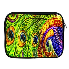 Glass Tile Peacock Feathers Apple Ipad 2/3/4 Zipper Cases by Simbadda