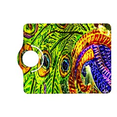 Glass Tile Peacock Feathers Kindle Fire Hd (2013) Flip 360 Case by Simbadda