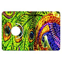 Glass Tile Peacock Feathers Kindle Fire Hdx Flip 360 Case by Simbadda