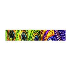 Glass Tile Peacock Feathers Flano Scarf (mini) by Simbadda