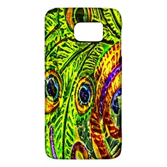 Glass Tile Peacock Feathers Galaxy S6 by Simbadda