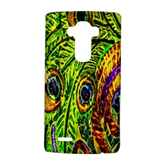 Glass Tile Peacock Feathers Lg G4 Hardshell Case by Simbadda