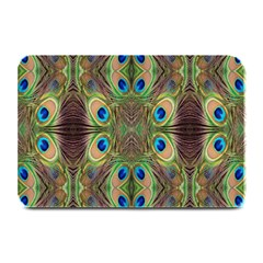 Beautiful Peacock Feathers Seamless Abstract Wallpaper Background Plate Mats by Simbadda