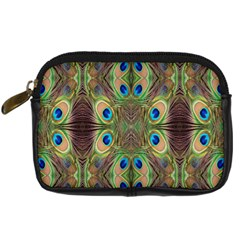 Beautiful Peacock Feathers Seamless Abstract Wallpaper Background Digital Camera Cases by Simbadda