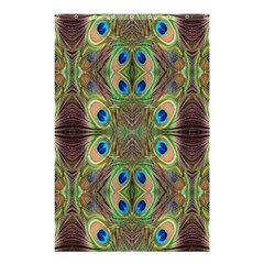 Beautiful Peacock Feathers Seamless Abstract Wallpaper Background Shower Curtain 48  X 72  (small)  by Simbadda