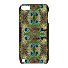 Beautiful Peacock Feathers Seamless Abstract Wallpaper Background Apple Ipod Touch 5 Hardshell Case With Stand by Simbadda