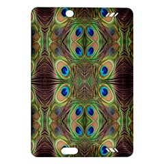 Beautiful Peacock Feathers Seamless Abstract Wallpaper Background Amazon Kindle Fire Hd (2013) Hardshell Case by Simbadda