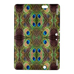 Beautiful Peacock Feathers Seamless Abstract Wallpaper Background Kindle Fire Hdx 8 9  Hardshell Case by Simbadda
