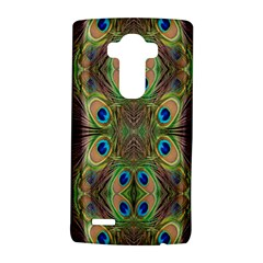 Beautiful Peacock Feathers Seamless Abstract Wallpaper Background Lg G4 Hardshell Case by Simbadda