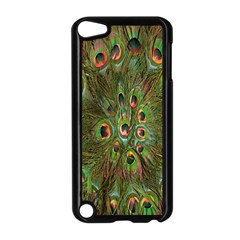 Peacock Feathers Green Background Apple Ipod Touch 5 Case (black) by Simbadda