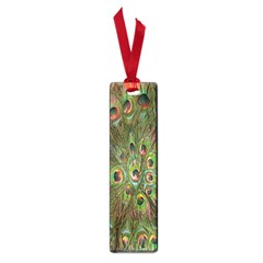 Peacock Feathers Green Background Small Book Marks by Simbadda