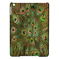 Peacock Feathers Green Background Ipad Air Hardshell Cases by Simbadda