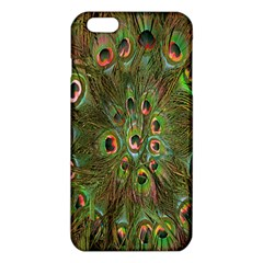 Peacock Feathers Green Background Iphone 6 Plus/6s Plus Tpu Case by Simbadda