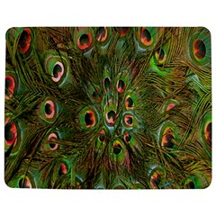 Peacock Feathers Green Background Jigsaw Puzzle Photo Stand (rectangular) by Simbadda