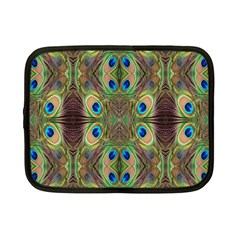 Beautiful Peacock Feathers Seamless Abstract Wallpaper Background Netbook Case (small)  by Simbadda