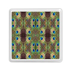 Beautiful Peacock Feathers Seamless Abstract Wallpaper Background Memory Card Reader (square)  by Simbadda