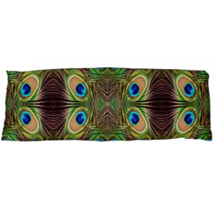 Beautiful Peacock Feathers Seamless Abstract Wallpaper Background Body Pillow Case (dakimakura) by Simbadda