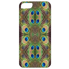 Beautiful Peacock Feathers Seamless Abstract Wallpaper Background Apple Iphone 5 Classic Hardshell Case by Simbadda