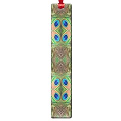 Beautiful Peacock Feathers Seamless Abstract Wallpaper Background Large Book Marks by Simbadda
