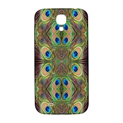 Beautiful Peacock Feathers Seamless Abstract Wallpaper Background Samsung Galaxy S4 I9500/i9505  Hardshell Back Case by Simbadda