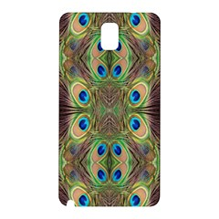 Beautiful Peacock Feathers Seamless Abstract Wallpaper Background Samsung Galaxy Note 3 N9005 Hardshell Back Case by Simbadda