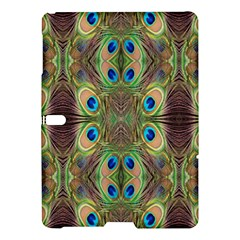 Beautiful Peacock Feathers Seamless Abstract Wallpaper Background Samsung Galaxy Tab S (10 5 ) Hardshell Case  by Simbadda