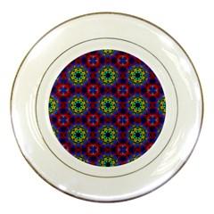 Abstract Pattern Wallpaper Porcelain Plates by Simbadda