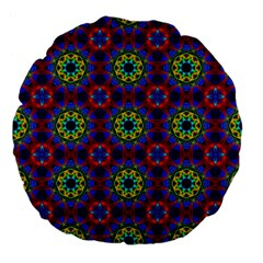 Abstract Pattern Wallpaper Large 18  Premium Flano Round Cushions by Simbadda