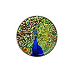 Graphic Painting Of A Peacock Hat Clip Ball Marker (4 Pack) by Simbadda