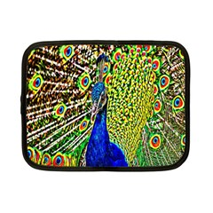 Graphic Painting Of A Peacock Netbook Case (small)  by Simbadda