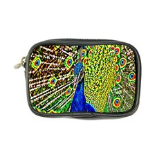 Graphic Painting Of A Peacock Coin Purse by Simbadda