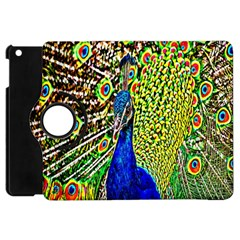 Graphic Painting Of A Peacock Apple Ipad Mini Flip 360 Case by Simbadda