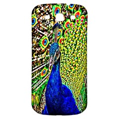 Graphic Painting Of A Peacock Samsung Galaxy S3 S Iii Classic Hardshell Back Case by Simbadda