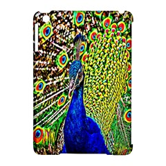 Graphic Painting Of A Peacock Apple Ipad Mini Hardshell Case (compatible With Smart Cover) by Simbadda