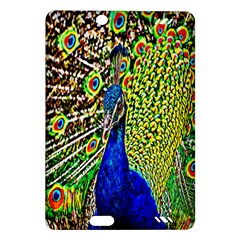 Graphic Painting Of A Peacock Amazon Kindle Fire Hd (2013) Hardshell Case by Simbadda