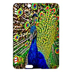 Graphic Painting Of A Peacock Kindle Fire Hdx Hardshell Case by Simbadda