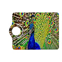 Graphic Painting Of A Peacock Kindle Fire Hd (2013) Flip 360 Case by Simbadda