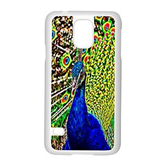 Graphic Painting Of A Peacock Samsung Galaxy S5 Case (white) by Simbadda