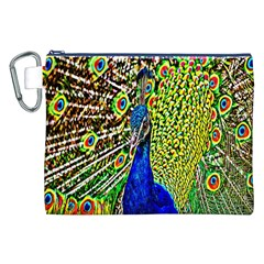 Graphic Painting Of A Peacock Canvas Cosmetic Bag (xxl) by Simbadda